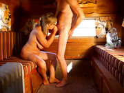 Mature Woman Sucks Cock In Trailer With Husband